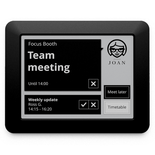 Meeting room scheduler reservation display