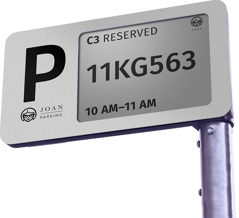 Joan Parking - A 3G and Solar Powered Digital Parking Sign 1